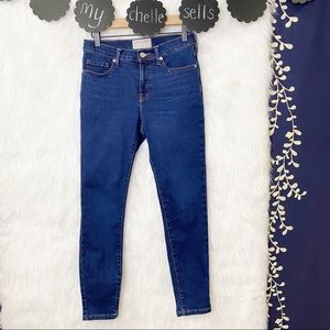 Everlane Mid-Rise Skinny Jeans Dark Blue Wash
